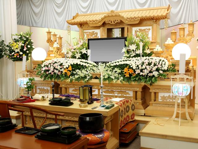 葬儀の祭壇写真